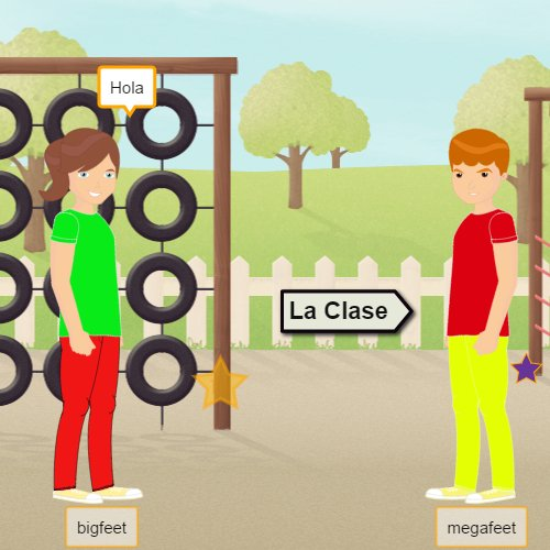 Online game for learning Spanish