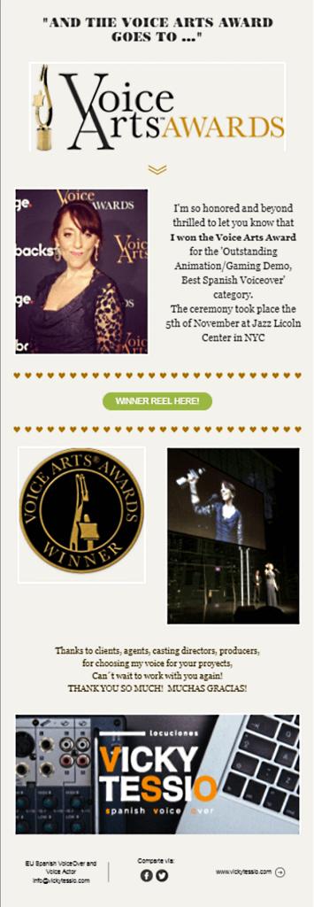 Vicky Tessio award