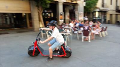 Joe riding a Scrooser