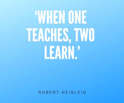 When one teachers, two learn