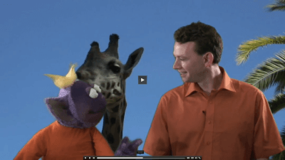 Jim and Speekee at the zoo