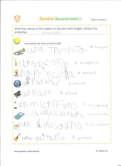 Example worksheet