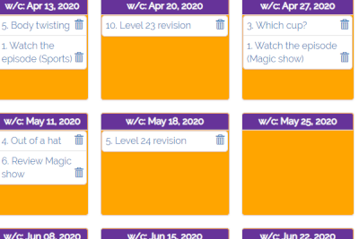 Screenshot of planning tool