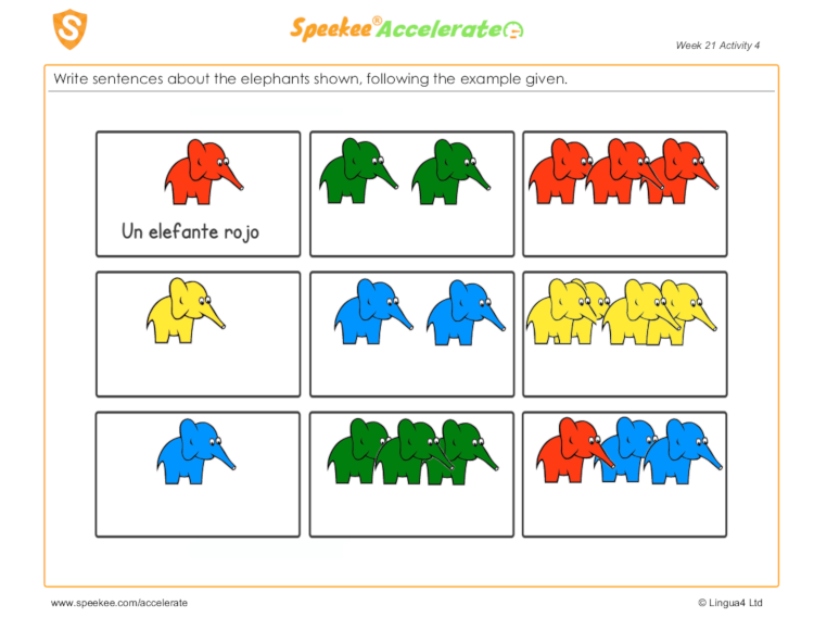 Counting animals in Spanish