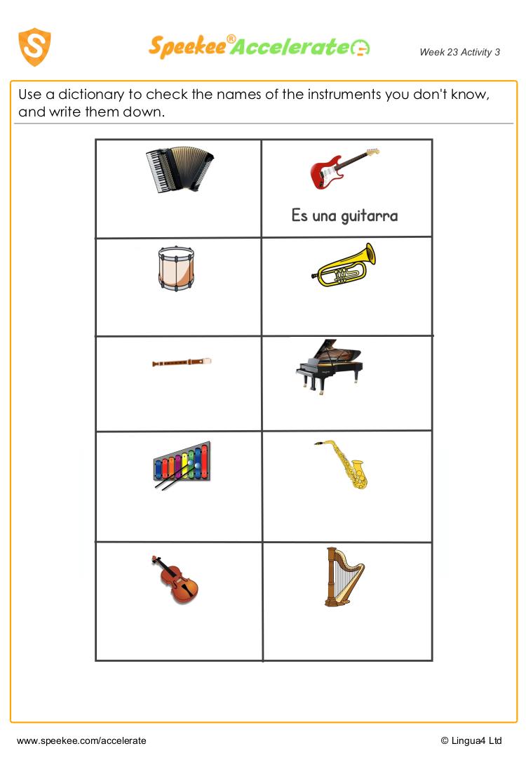 Spanish instruments
