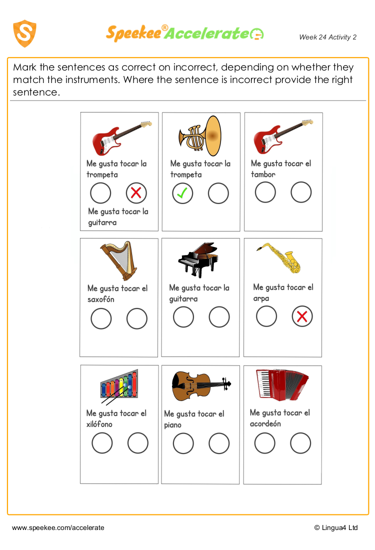 Spanish instruments names