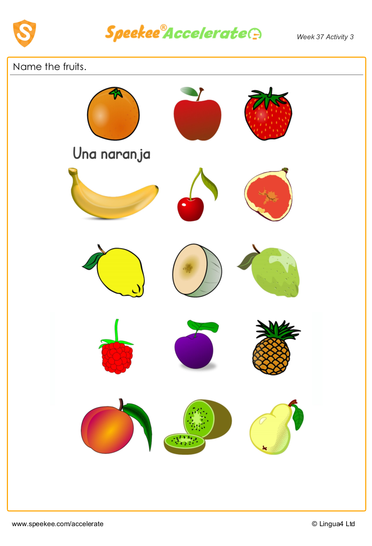 Spanish fruit names