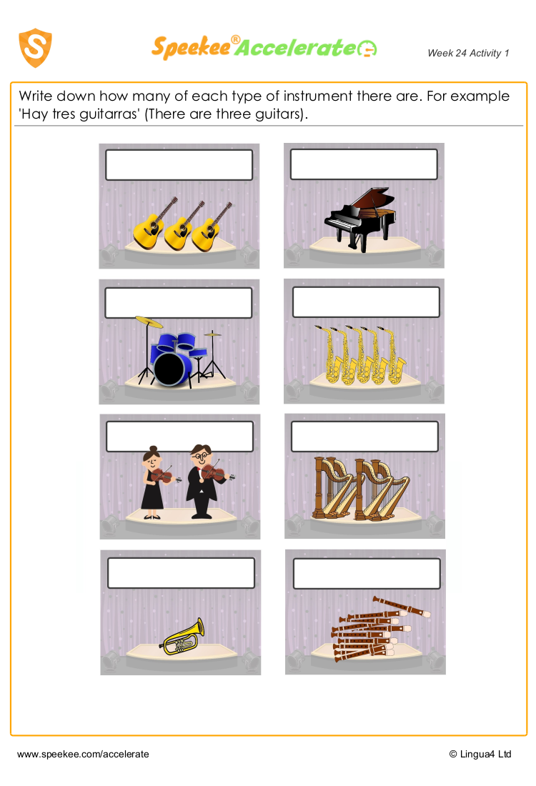 Names of all Spanish musical instruments