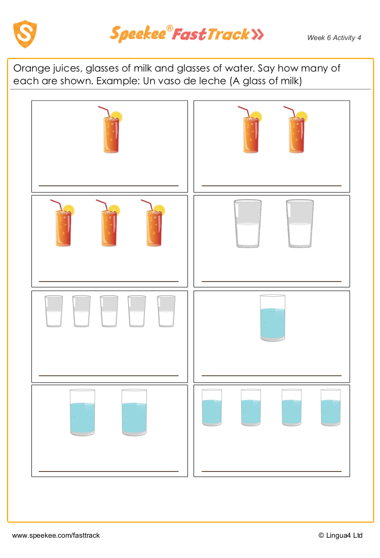 How many of each drink?