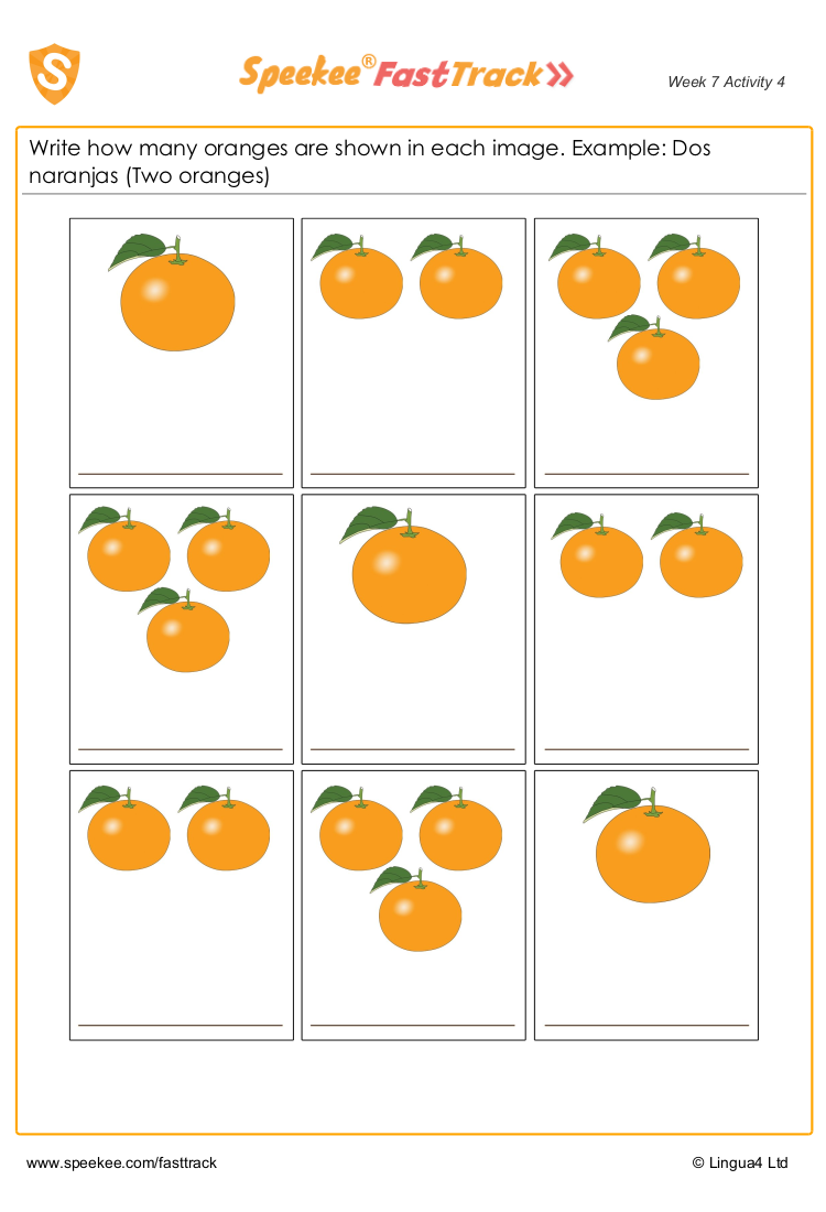 How many oranges?