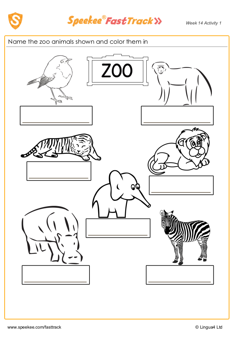 Name the zoo animals