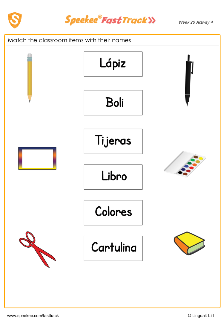 Classroom item match