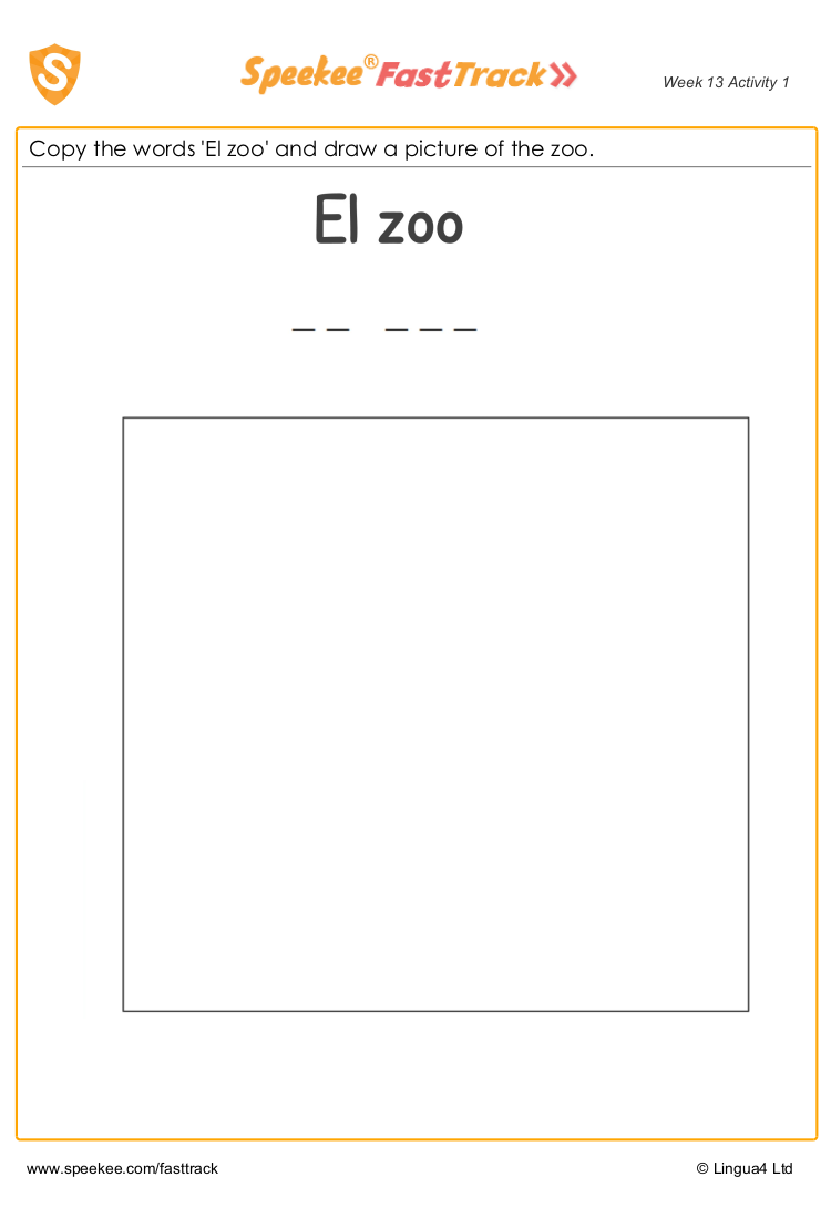 Copy and draw zoo