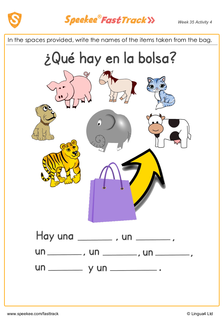 Spanish worksheets for teachers
