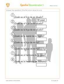 Spanish Printable: Family members quiz
