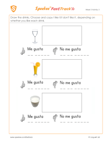 Spanish Printable: I like it/I don't like it