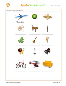 Spanish Printable: ¿Cómo se escribe ____?