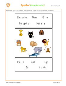 Spanish Printable: Name the animals