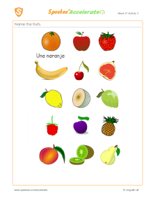 Spanish Printable: Fruits