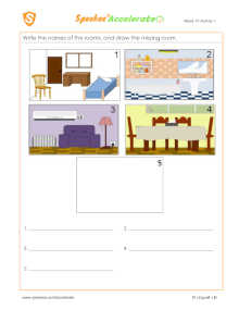 Spanish Printable: Rooms
