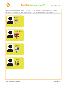 Spanish Printable: ID Cards