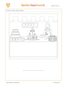 Spanish Printable: Coloring worksheet