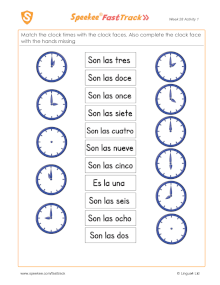 Clock times and clock faces