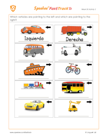 Spanish Printable: Left and Right