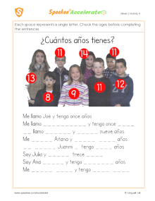 Spanish Printable: How old are the Spanish children?