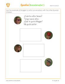 Spanish Printable: Spanish conversations 3